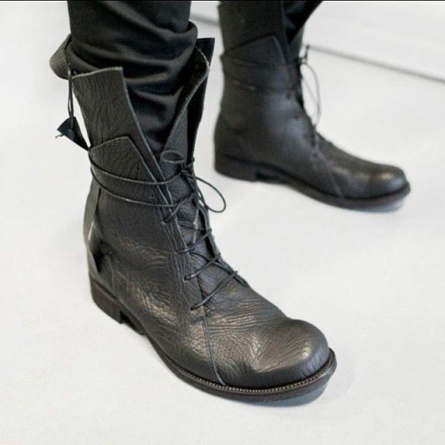 black #leather @borisbidjansaberi #boots #fashion #dark