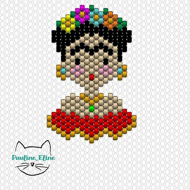 FRIDA # | peyote | Pinterest | Punto de cruz, Frida y Punto