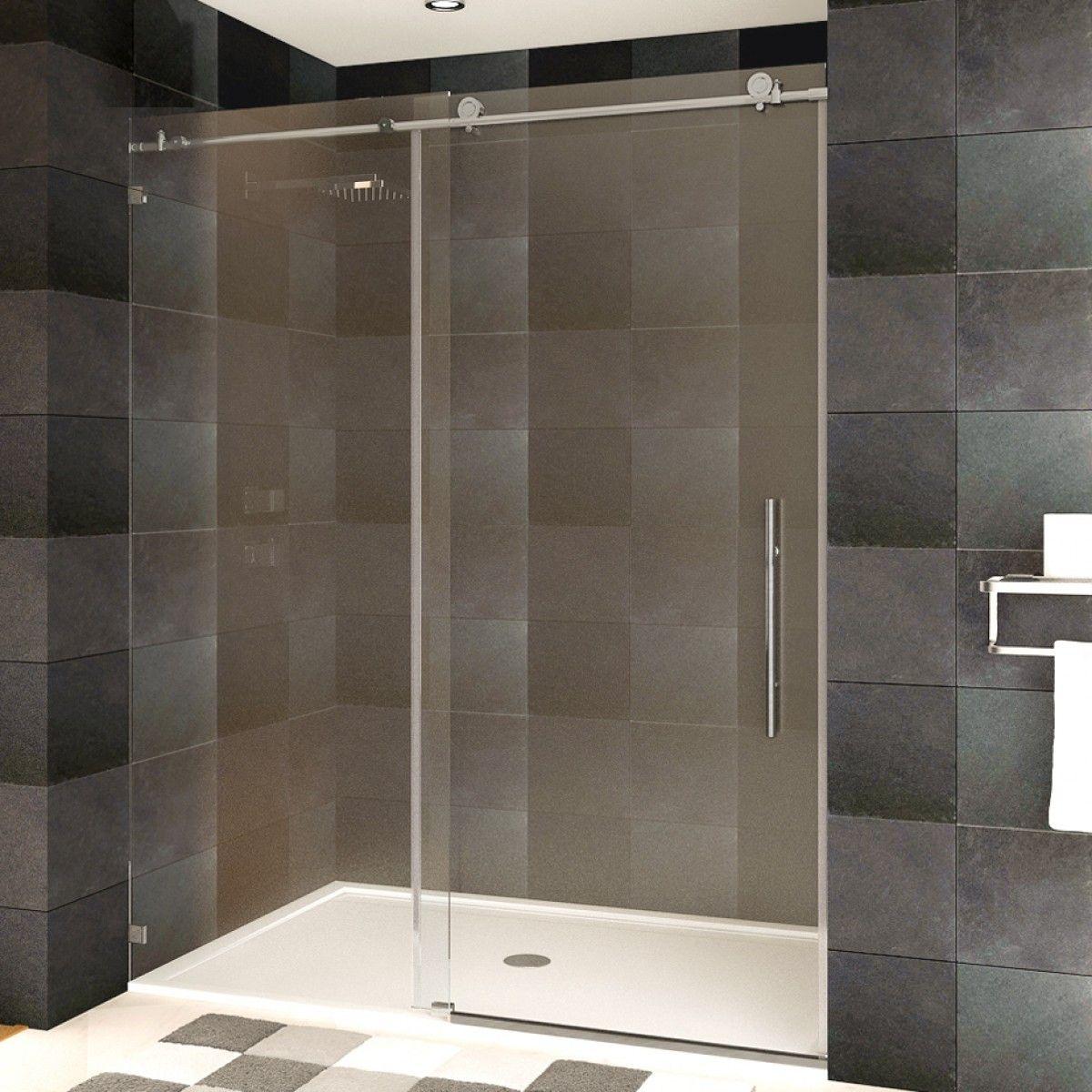 Ultra C 48 X 76 Shower Door Brushed Nickel Finish Shower Doors