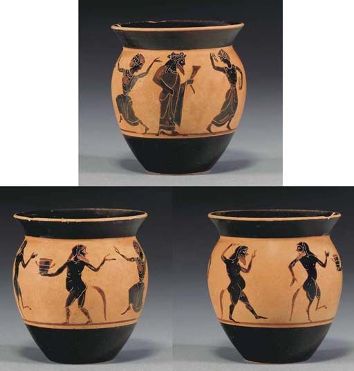 Attic black figure mastoid cup Attributed to the