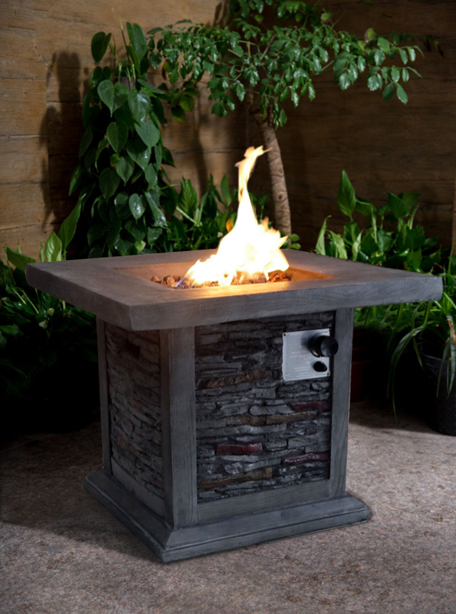 Guanacaste square mgo propane gas fire pit products pinterest