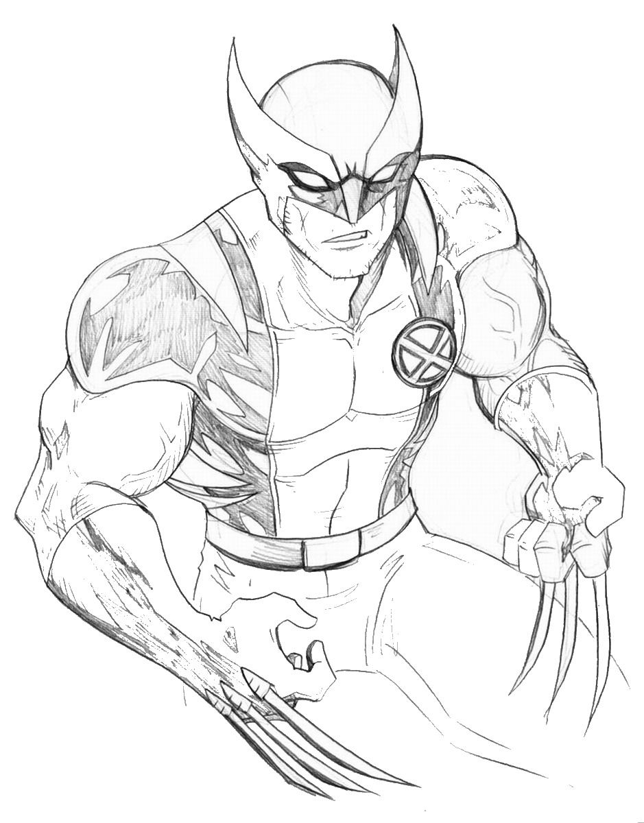 Wolverine Coloring Pages Printable Free Superhero Coloring Pages Superhero Coloring Cartoon Coloring Pages