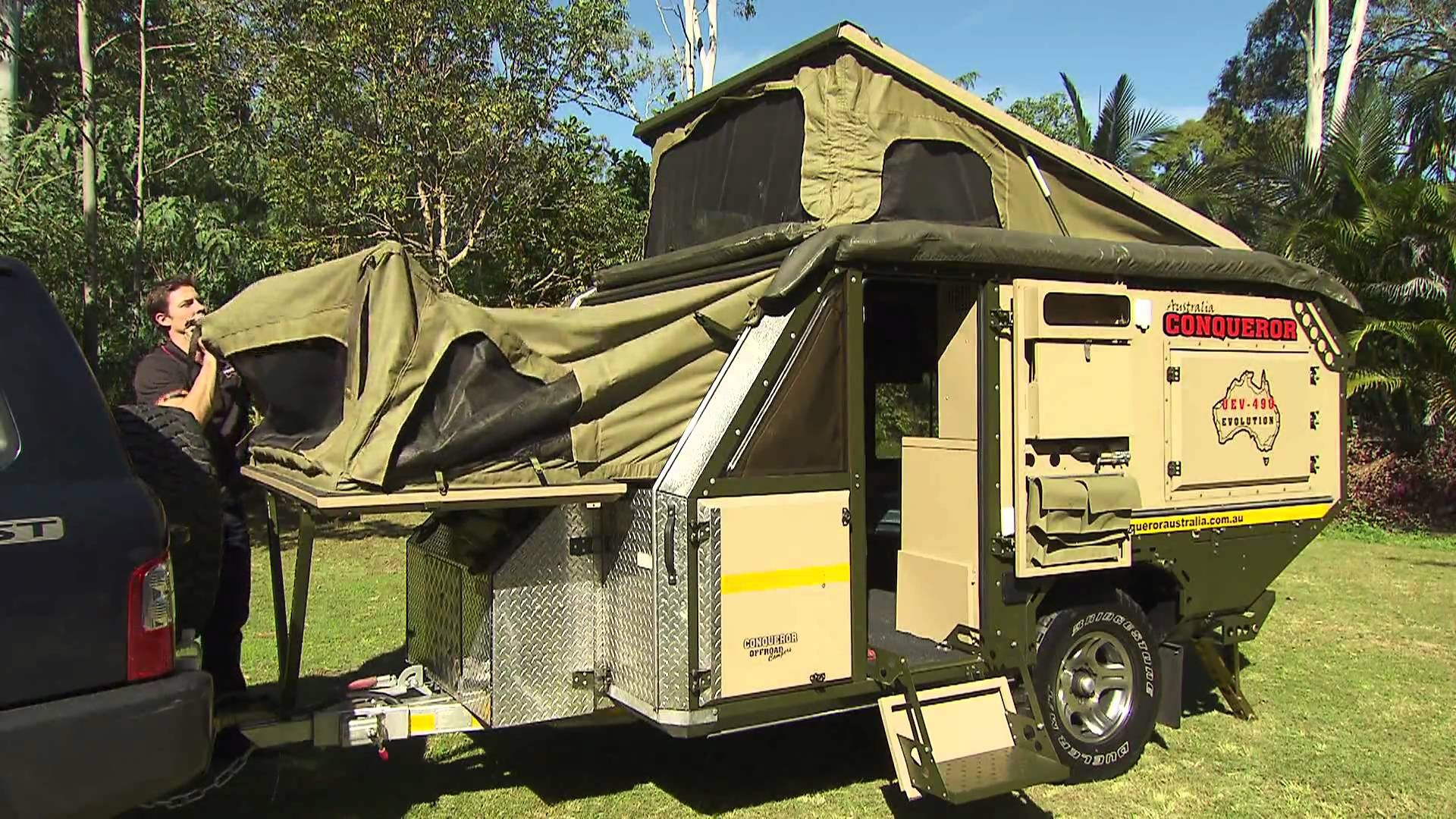 Mk1 UEV 490 off-road camper trailer Conqueror Australia ...