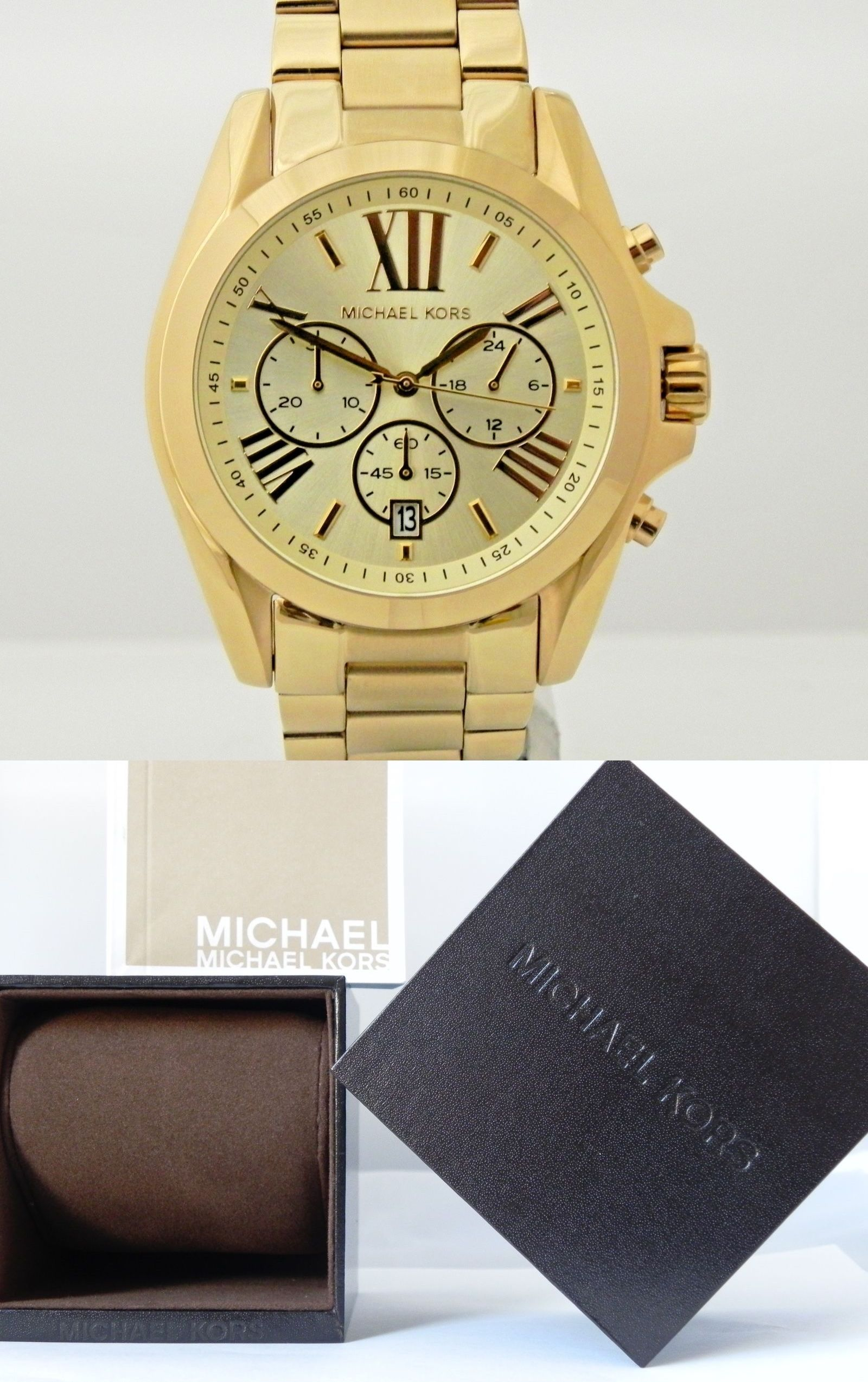7de22e4bc758 Parts and Accessories 51021  Michael Kors Mk5605 Unisex Bradshaw Champagne  Chronograph Dial Gold Tone Watch -  BUY IT NOW ONLY   130 on eBay!
