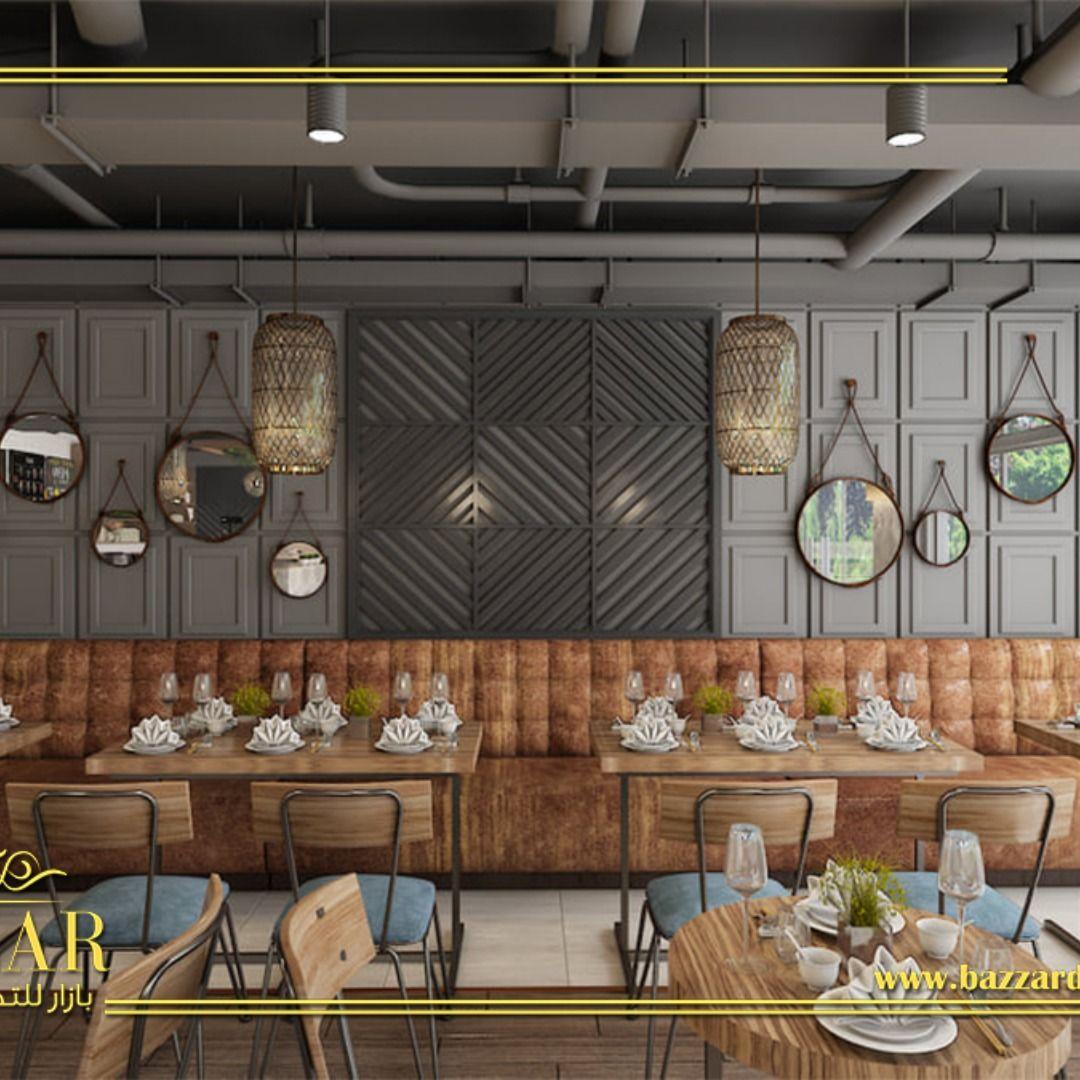 تصميم مميز من بازار للديكور ديكور كافيه ومخبز فرنسي علي الطراز نيوكلاسيك تصميم داخلي تصميم خارجي تصميم كوفي شوب Interi Restaurant Design Design House Plans