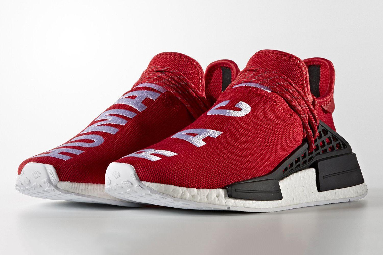 afca0d4533462 搶先預覽 adidas Originals   PHARRELL WILLIAMS HU NMD 紅色版本 ...
