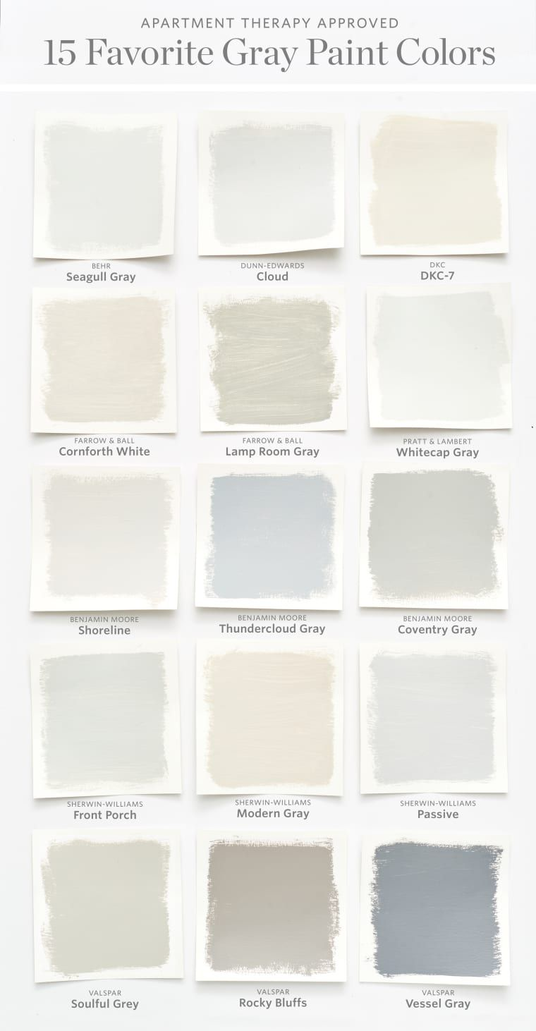 Color Cheat Sheet The 15 Most Perfect Gray Paint Colors Grey Paint Colors Perfect Grey Paint Color Grey Wall Color