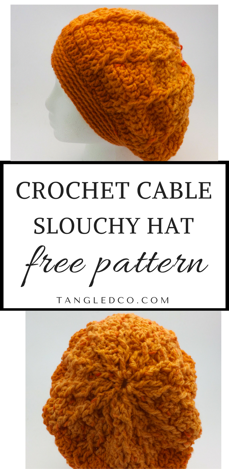 Cable Slouchy Hat | crochet patterns | Pinterest | Gorros