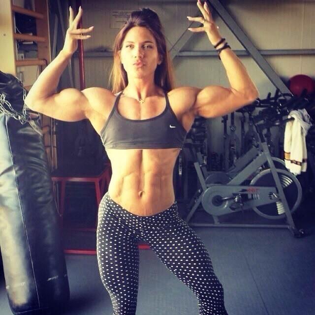 Muskelfrau