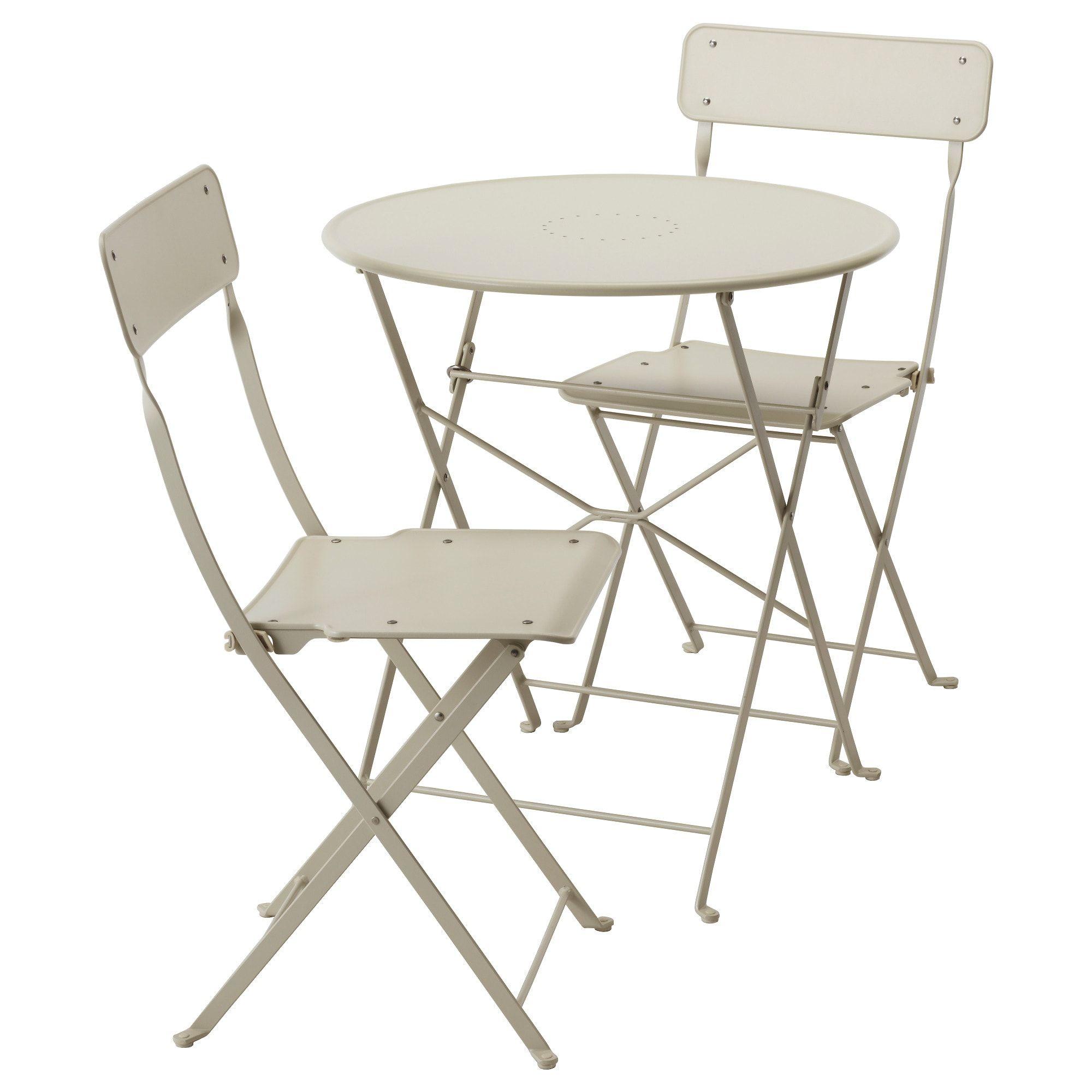 Tavolino Per Balcone Ikea saltholmen tavolo+2 sedie pieghevoli giardino - beige (con