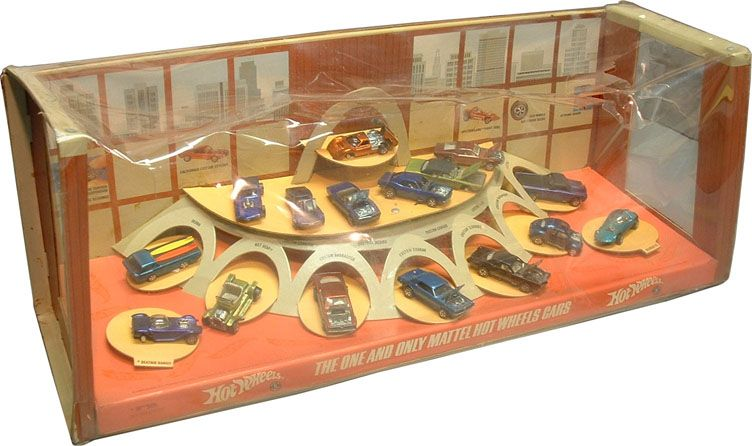 Hot Wheels Store Display 1968 Image Courtesy Of Bruce Pascal