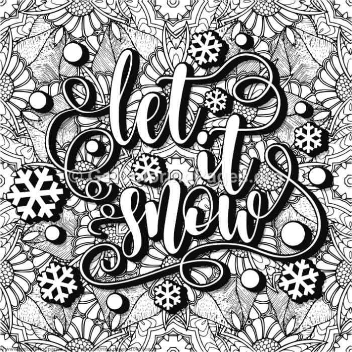 Let It Snow Coloring Pages | Coloring pages, Pattern ...