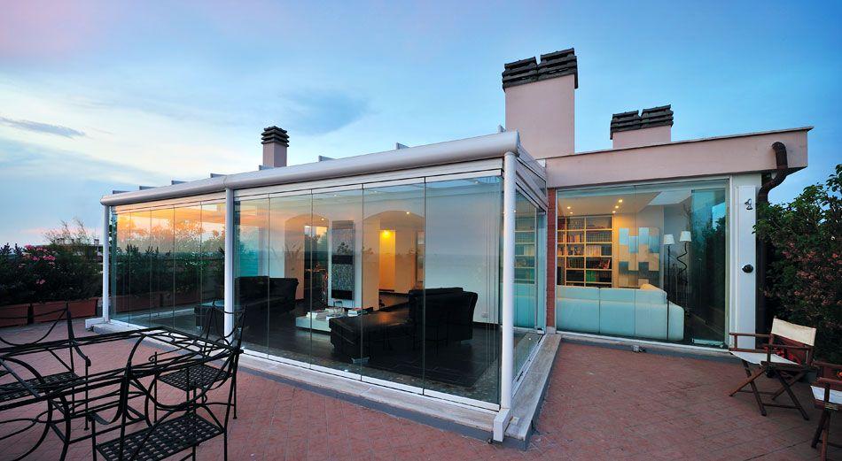 Novedoso cerramiento para terrazas balcones y p rgolas - Cerramientos plegables de vidrio ...