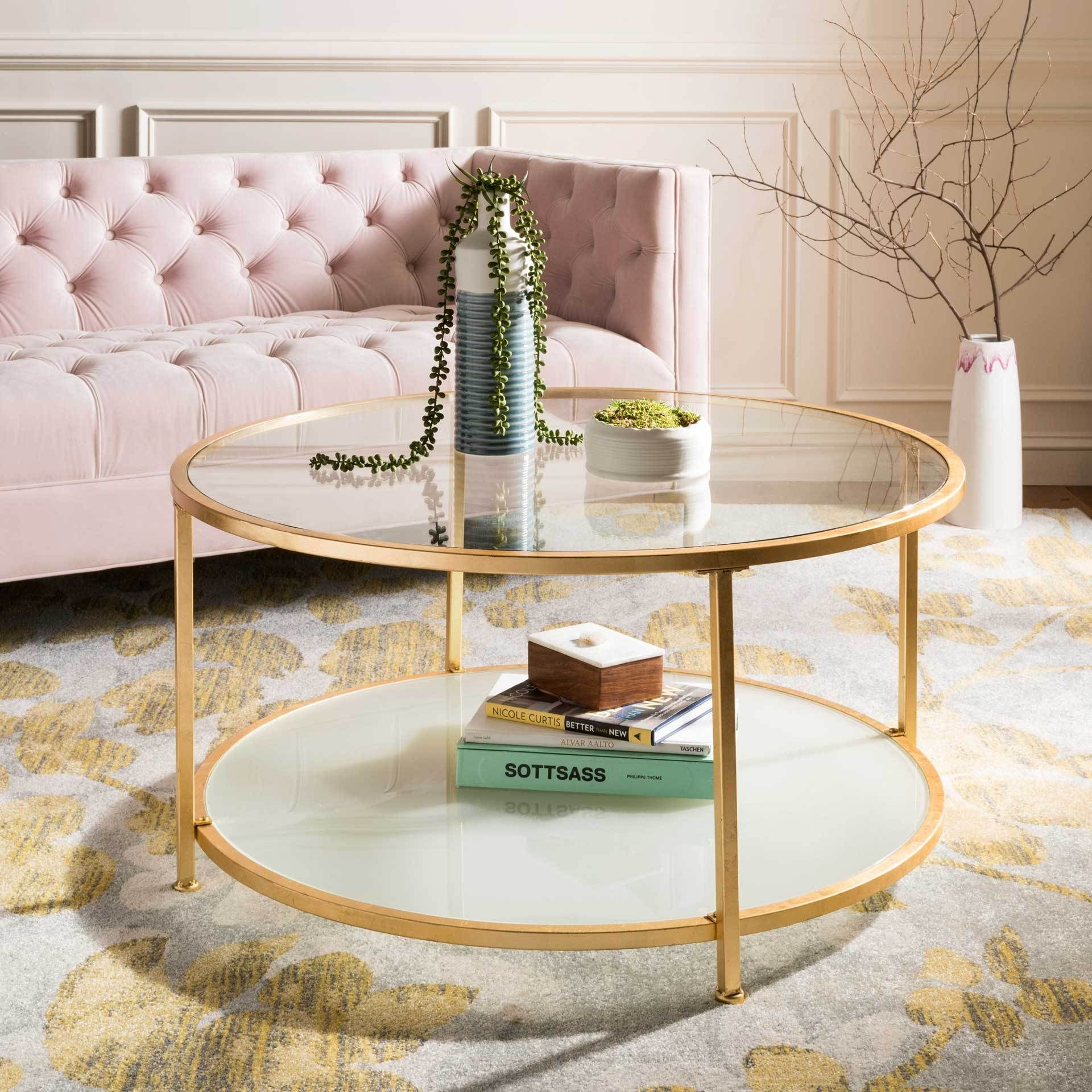 Ivanna 2 Tier Round Coffee Table In 2021 Gold Coffee Table Coffee Table With Shelf Coffee Table [ 1920 x 1920 Pixel ]