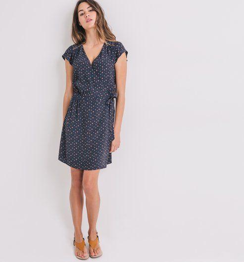 9948179d72cf2f Robe portefeuille Femme imprimé noir - Promod   Fashion // Mode ...