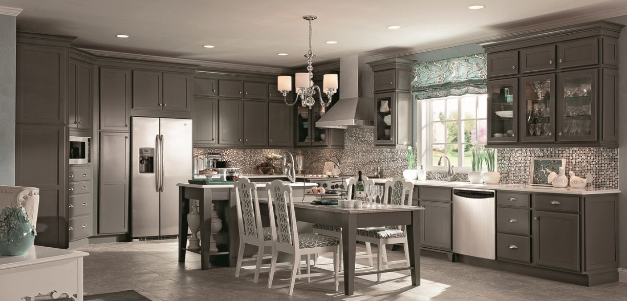 Best Kraftmaid Cabinets In New Greyloft Tone New Products 400 x 300