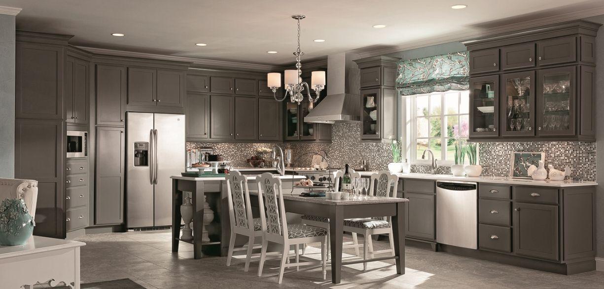 Best Kraftmaid Cabinets In New Greyloft Tone Kitchen Cabinets 400 x 300