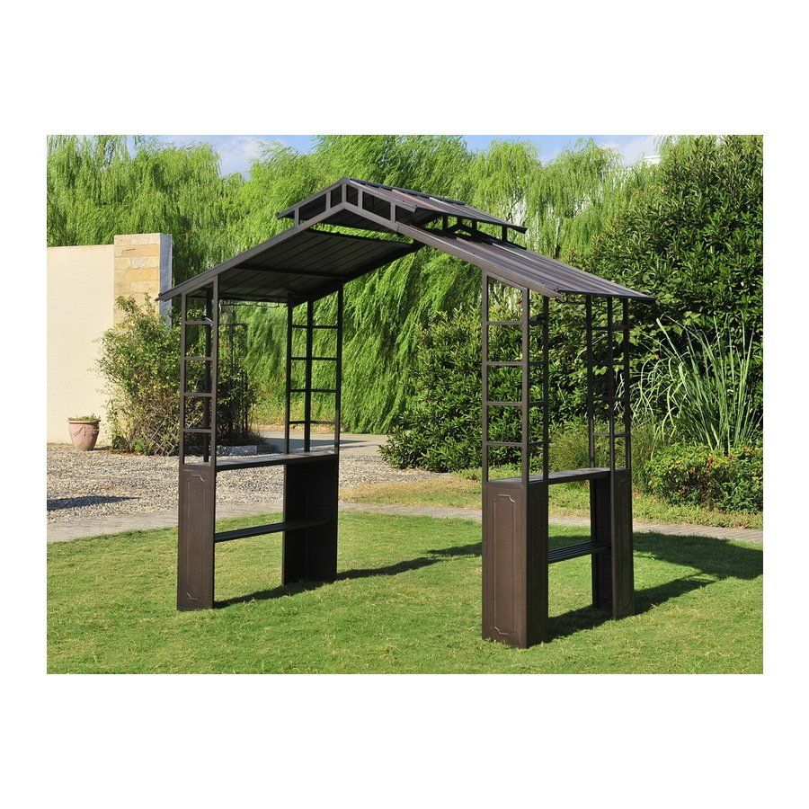 $449 until july 09. sunjoy hardtop slate bbq steel gazebo at