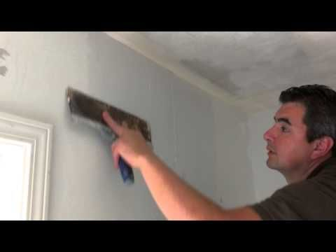 How To Apply A Skim Coat On Walls Removable Wallpaper Wall Drywall Repair