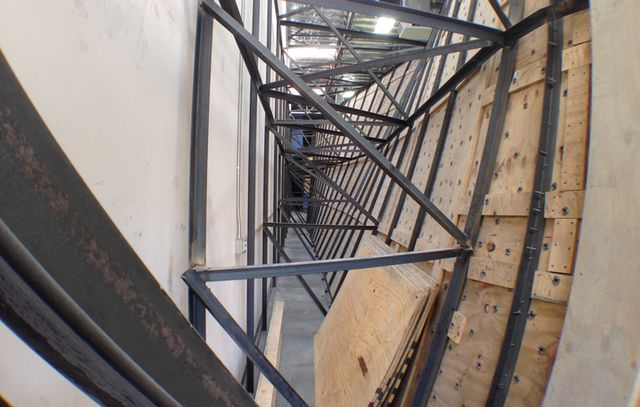 Welded Steel Support Structure Built By Louie Anderson Assoc At The Refuge Climbing Wall Rock Climbing Wall Indoor Climbing Wall