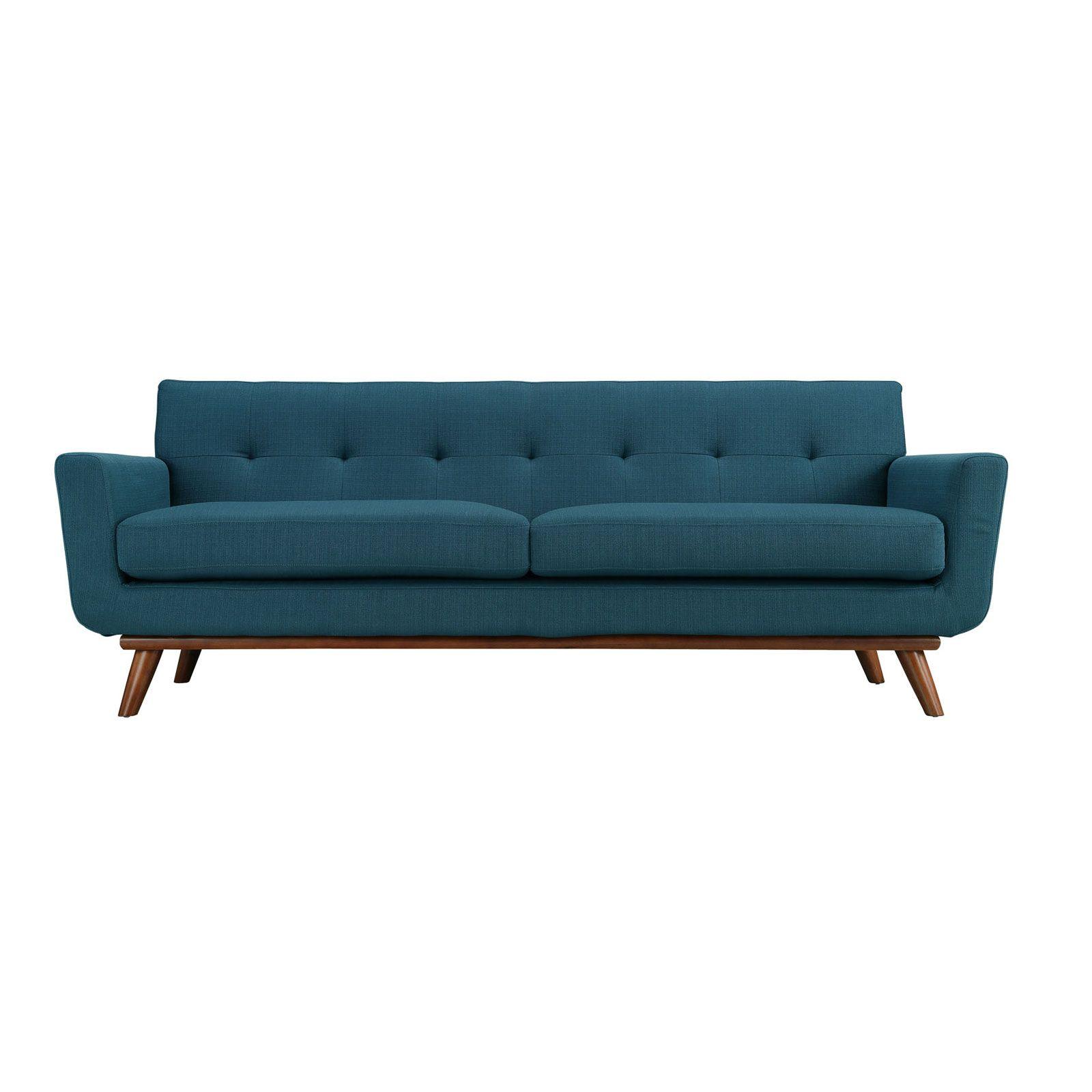 Spiers Sofa in Teal | dotandbo.com