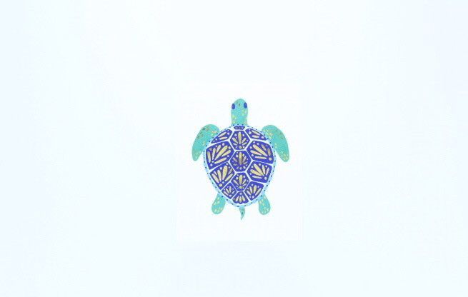 Sea Turtle Wallpaper notebook, Small turtles, Cute stickers