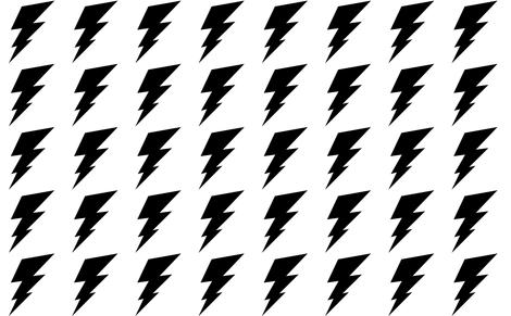 Black Bolt fabric by littleinspiration on Spoonflower - custom fabric