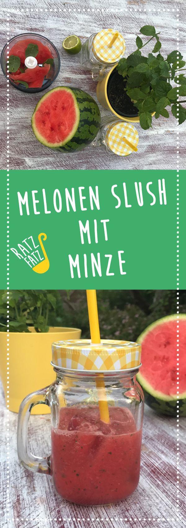 Wassermelonen Slush mit Minze (mit Bildern) Wassermelone