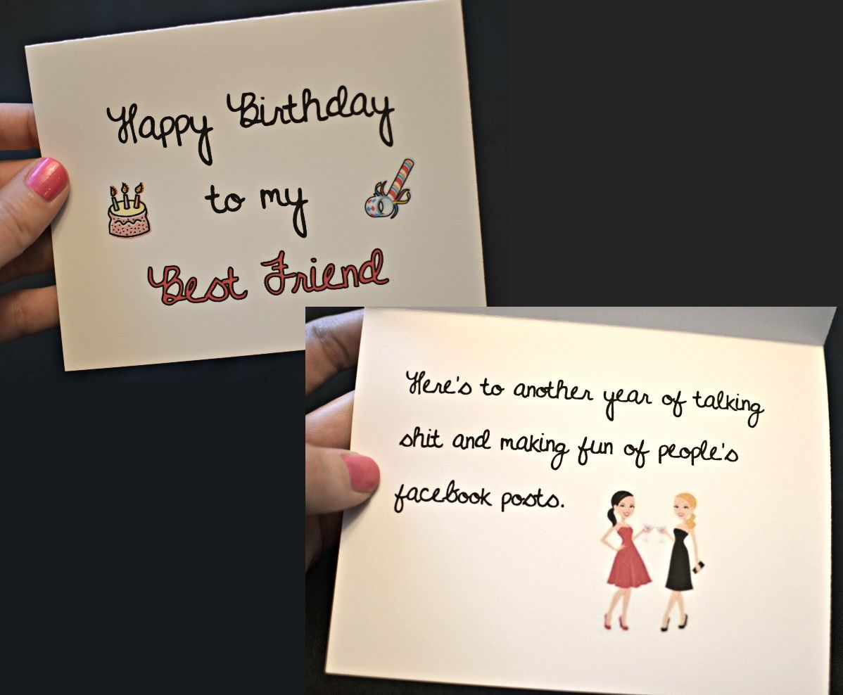 Happy Birthday To My Best Friend Card Funny Naughty