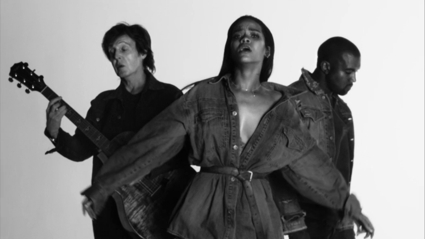 Nosee Rosee New Video Rihanna Fourfiveseconds Featuring Kanye West Paul Mccartney Kanye West Paul Mccartney Paul Mccartney Rihanna