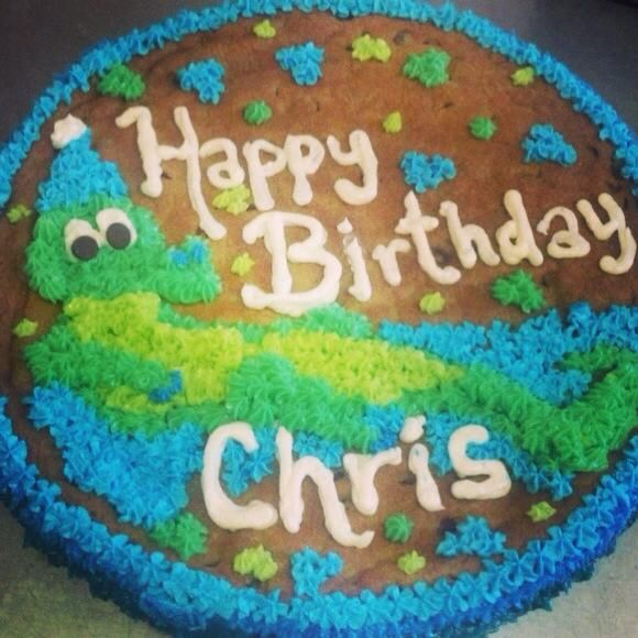 Alligator Cookie Cake Happy Birthday Chris Thanks For Trusting Us