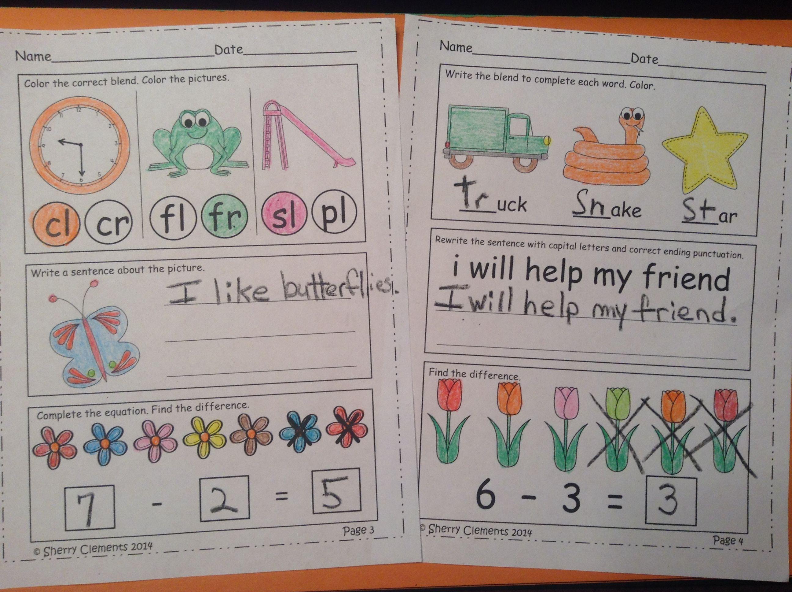 FREE: Morning Work - Kindergarten - May (FREEBIE SAMPLE) Language ...