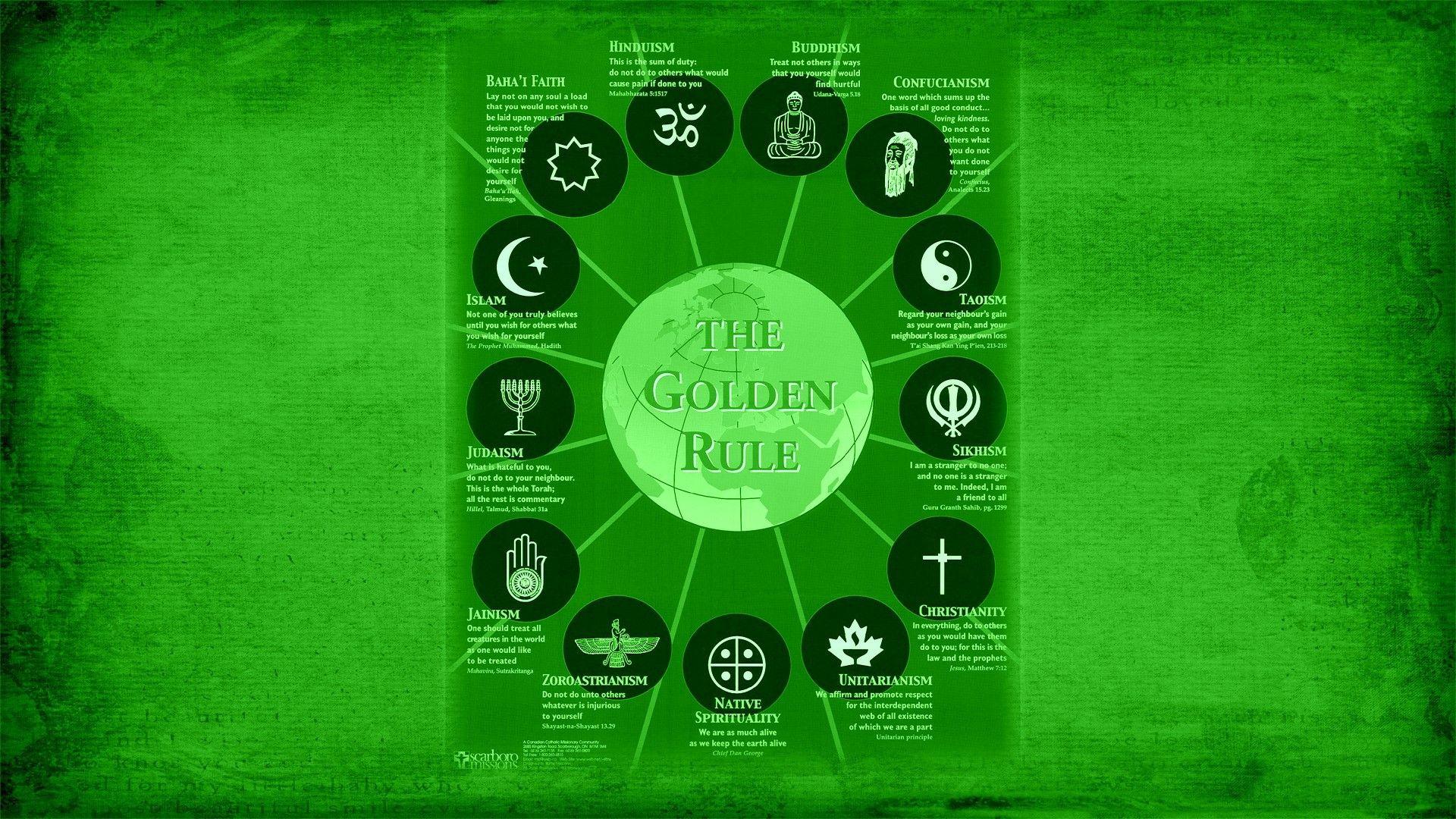 Image For Religion Symbols World The Golden Rule Wallpaper Home