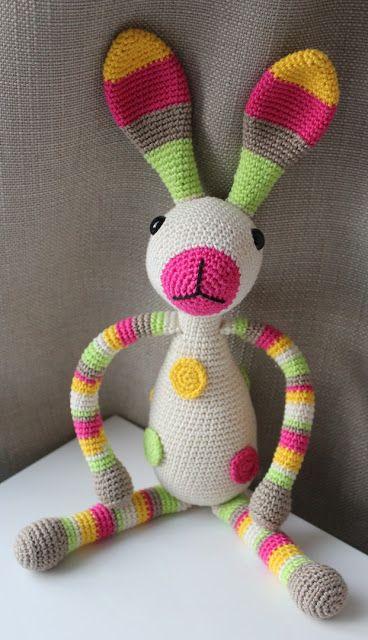 Hilde Haakt Konijn Snuf Haken Bichinhos E Miniaturas De Croche