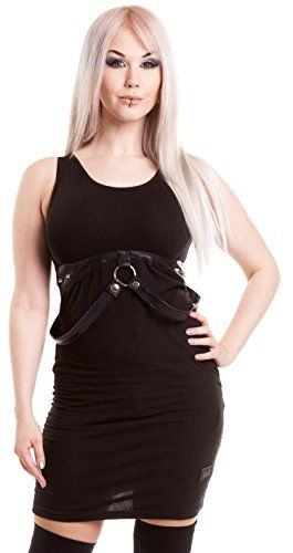 Vixxsin Women's Sleeveless Dress - Black - X-Large ...