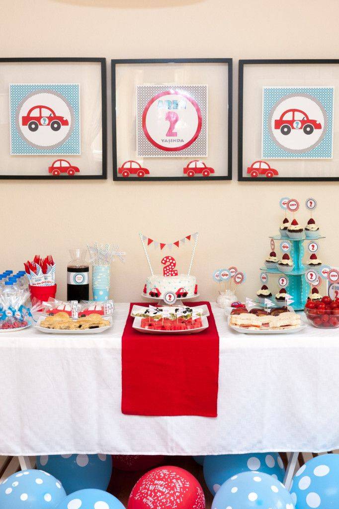 Cars Themed 2nd Birthday Party For Aren In 2018
