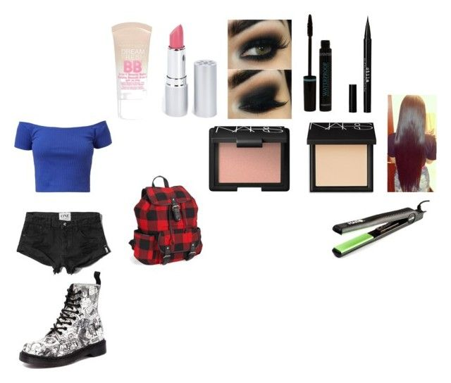 """Untitled #26"" by stefaniakan ❤ liked on Polyvore featuring beauty, Abercrombie & Fitch, Aéropostale, Stila, HoneyBee Gardens, Maybelline, NARS Cosmetics and Dr. Martens"