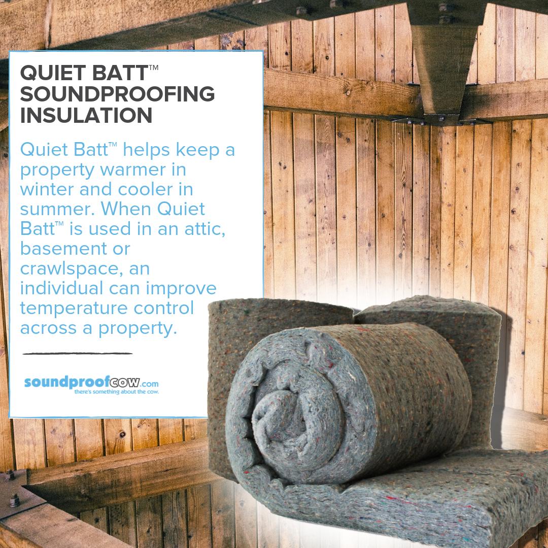 Quiet Batt 30 Premium Soundproofing Insulation Batt Insulation Soundproof Cow Sound Proofing Soundproofing Insulation Batt Insulation