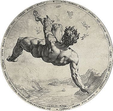 Photo of Der Fall des Ikarus La chute d'Icare, 1588, Hendrick Goltzius.