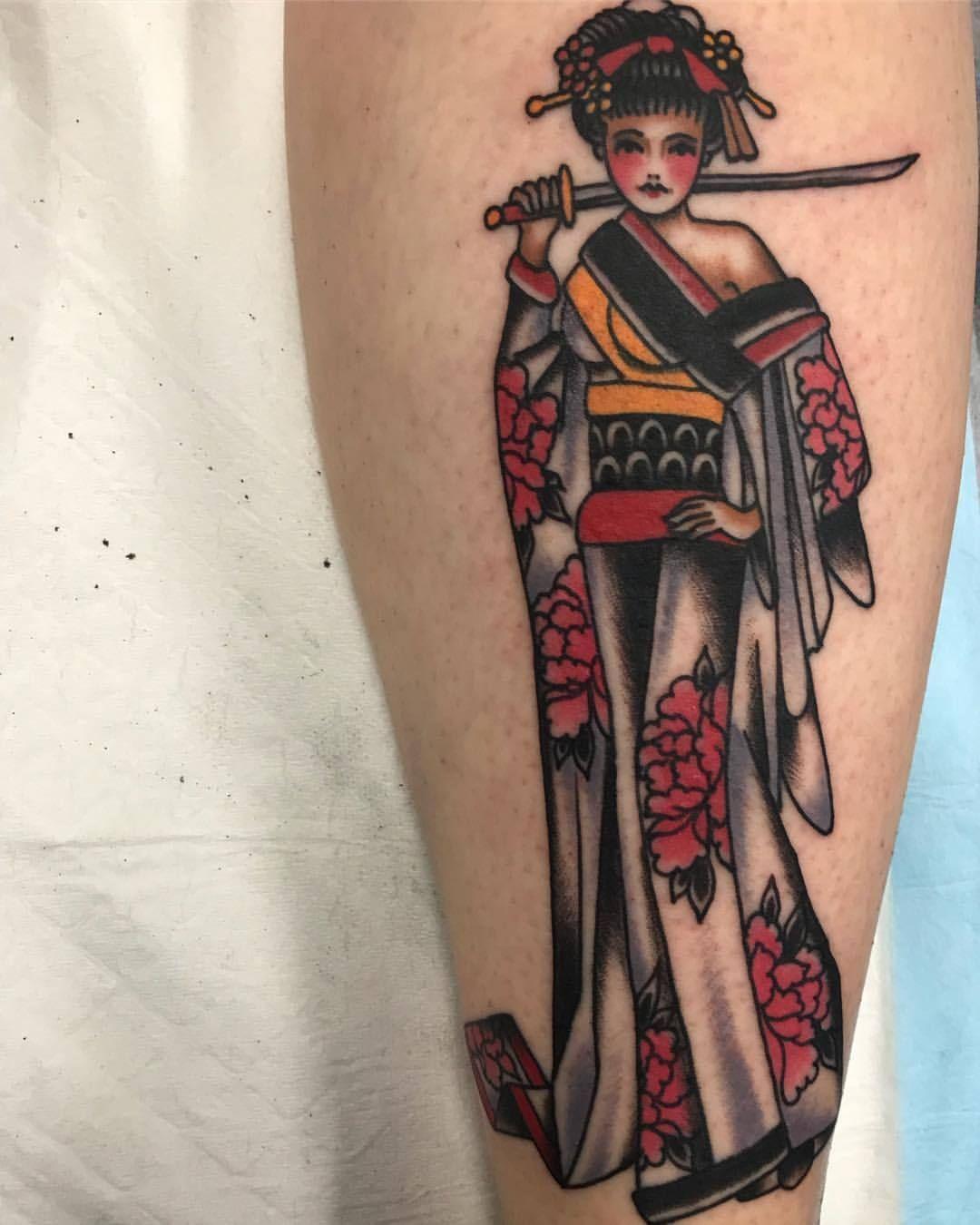 American Traditional Tattoo Japanese Geisha Samurai Traditional Japanese Tattoo Sleeve Traditional Japanese Tattoos Neo Traditional Tattoo