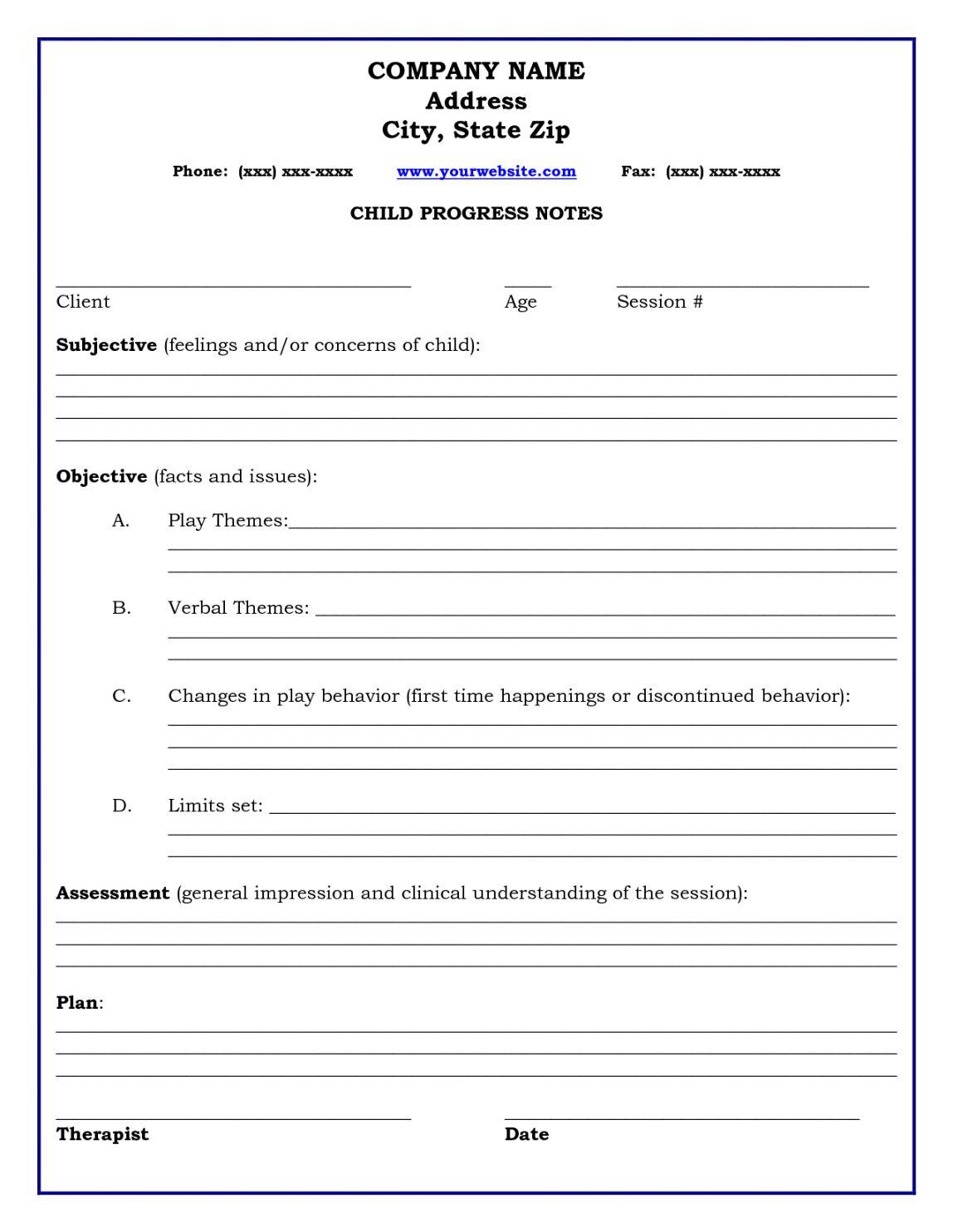 Soap Note Sample Templates Soap Note Nursing Templates Note Templates