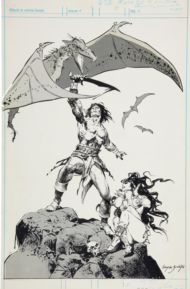 Conan production art tony de zuñiga