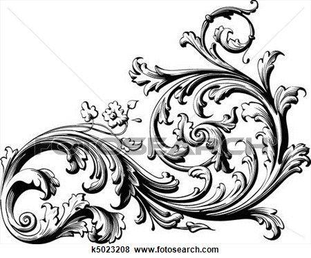 floral boekrol clipart tattoo flourish and clip art rh pinterest com au free filigree vector clip art free filigree clip art patterns
