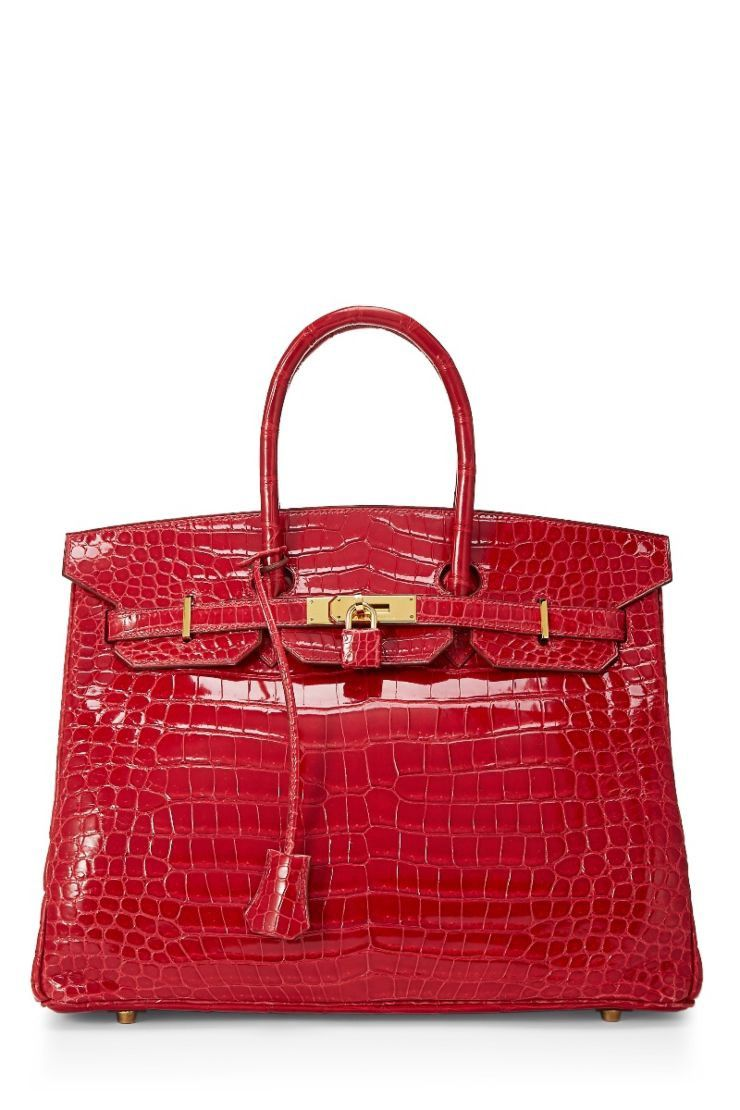What Goes Around Comes Around Braise Porosus Crocodile Lisse Birkin 35Cm -  Hermès - Red b43df5914