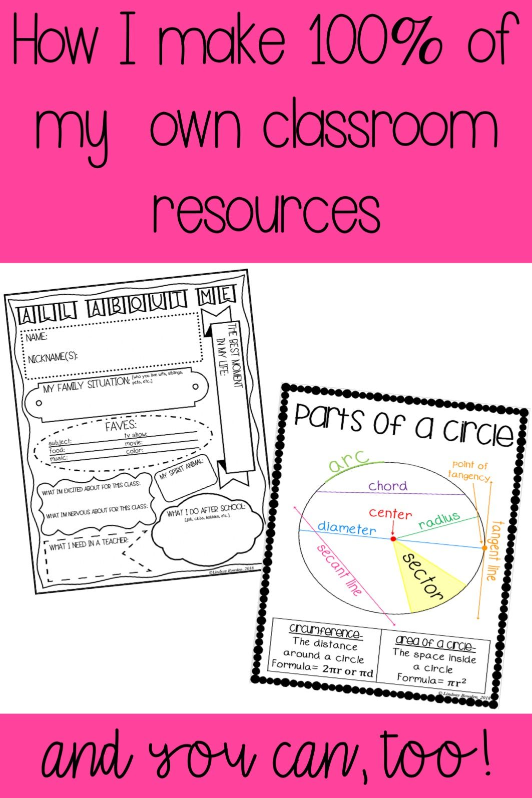 Learn How I Make 100 Of My Own Classroom Resources