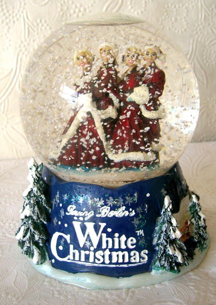 Irving Berlin Bing Crosby White Christmas Musical Snow Globe 2000 Christmas Items White Christmas