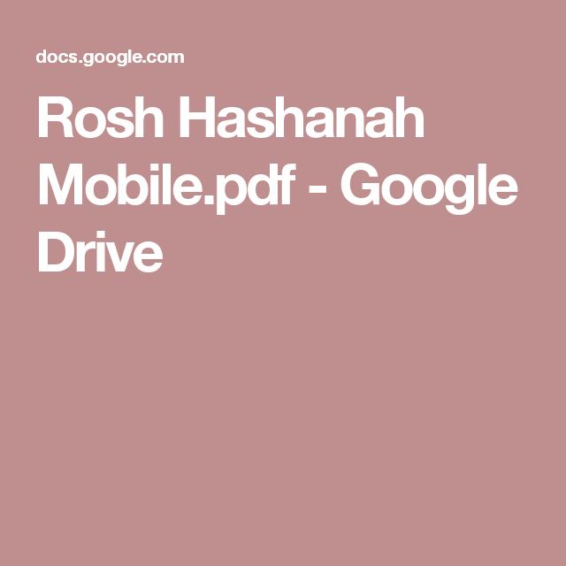 Rosh Hashanah Mobile.pdf - Google Drive
