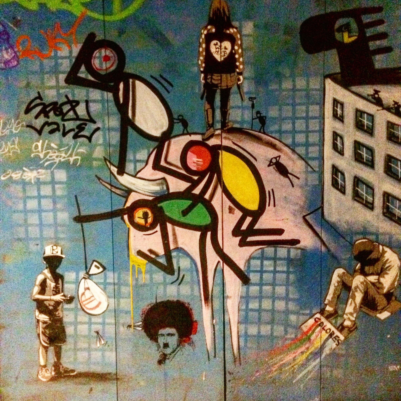 Zimmerwand graffiti found in barcelona spain december   streetart  pinterest