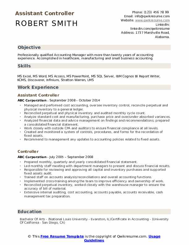 Assistant Controller Resume Samples Qwikresume In 2020 Resume Sample Resume Templates Budget Forecasting