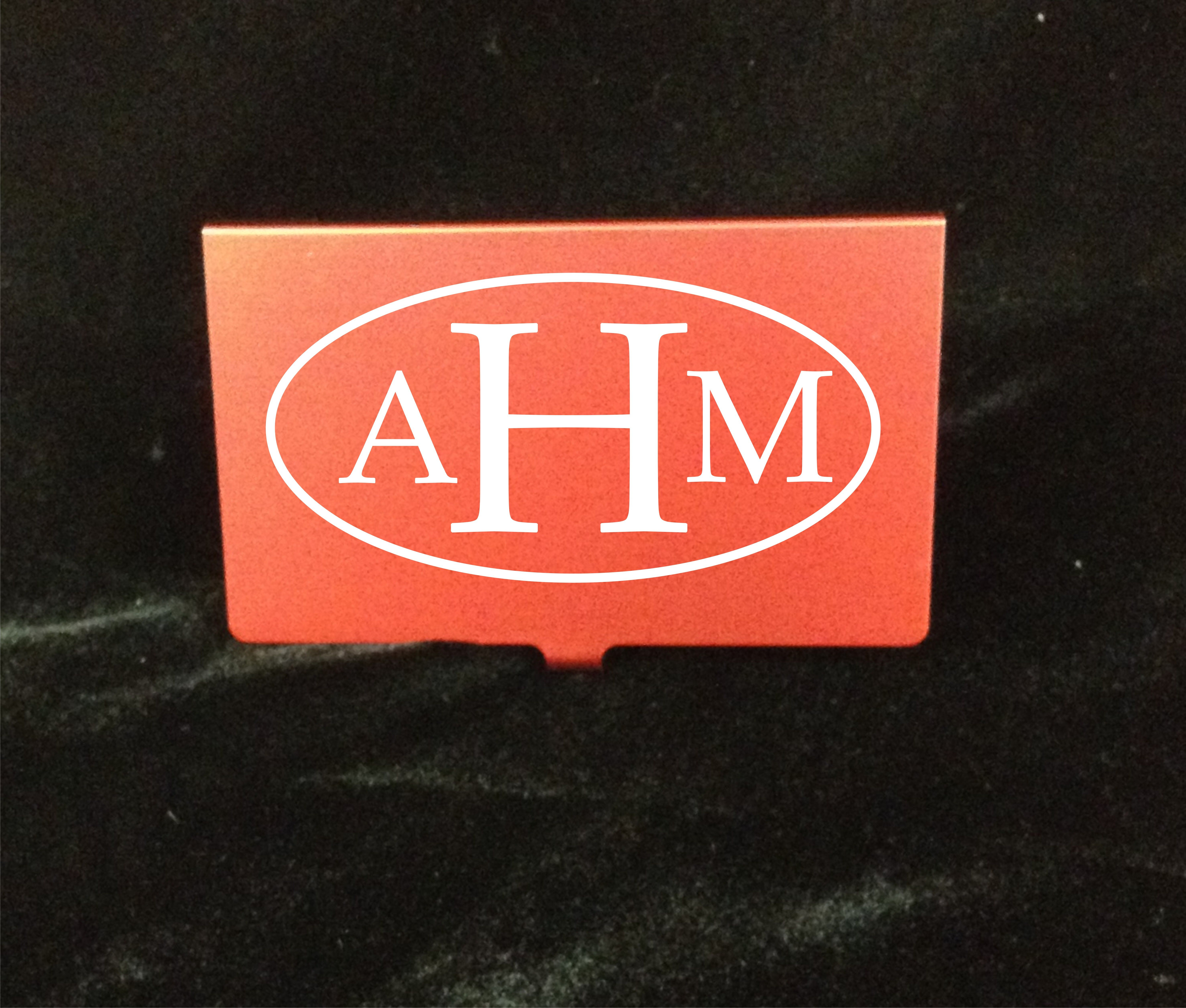 Monogrammed business card holders... Yes please! #Business #Card ...